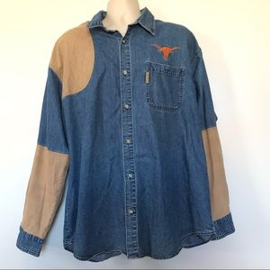 Texas Longhorns Shooting Shirt XXL Columbia Denim